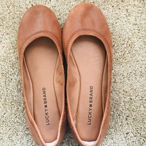 LUCKY BRAND Emma brown leather flats